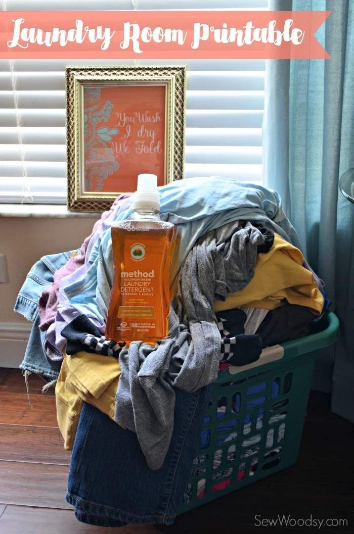 Free Laundry Room Printable  #CleanHappy #Ad