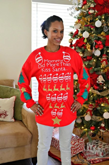 Maternity Pretty Ugly Christmas Sweater