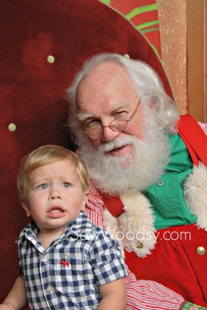 Scared Toddler with Santa