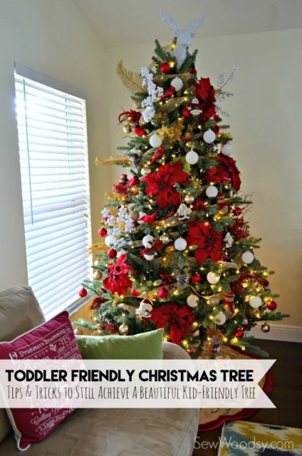 Toddler Friendly Christmas Tree #AtHomeforChristmas #AtHomeFinds #Ad