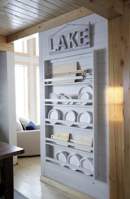 Ana White Plate Shelf