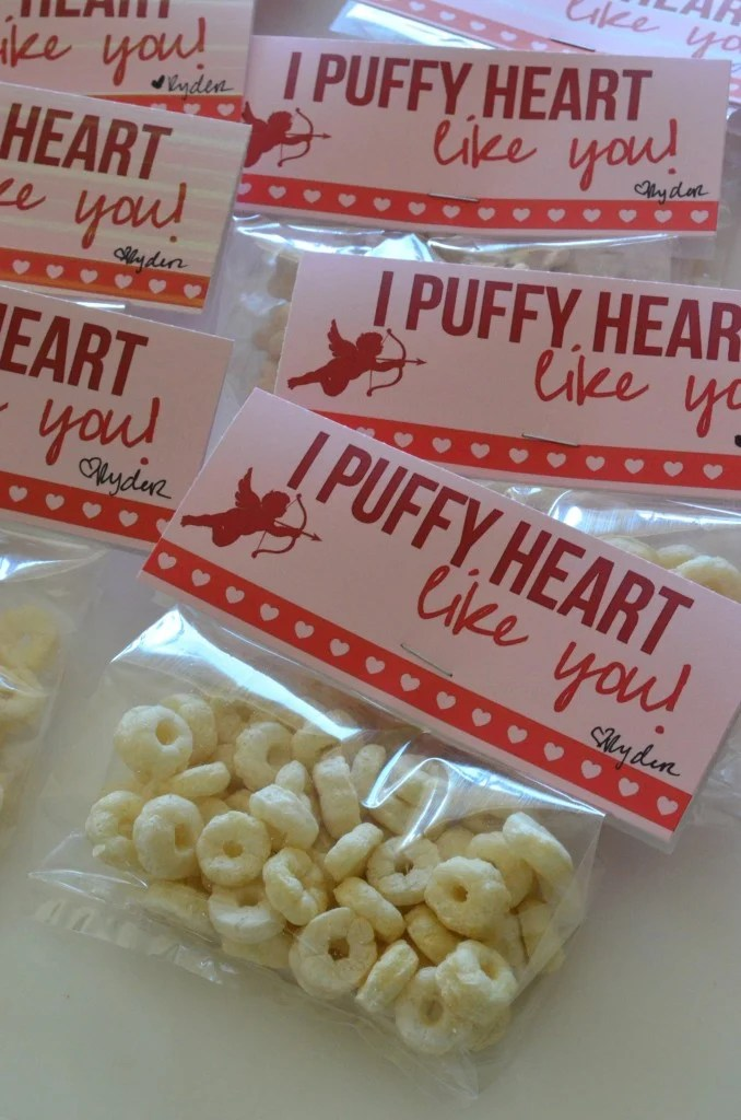 I puffy heart like you - Free Printable Baby Valentine