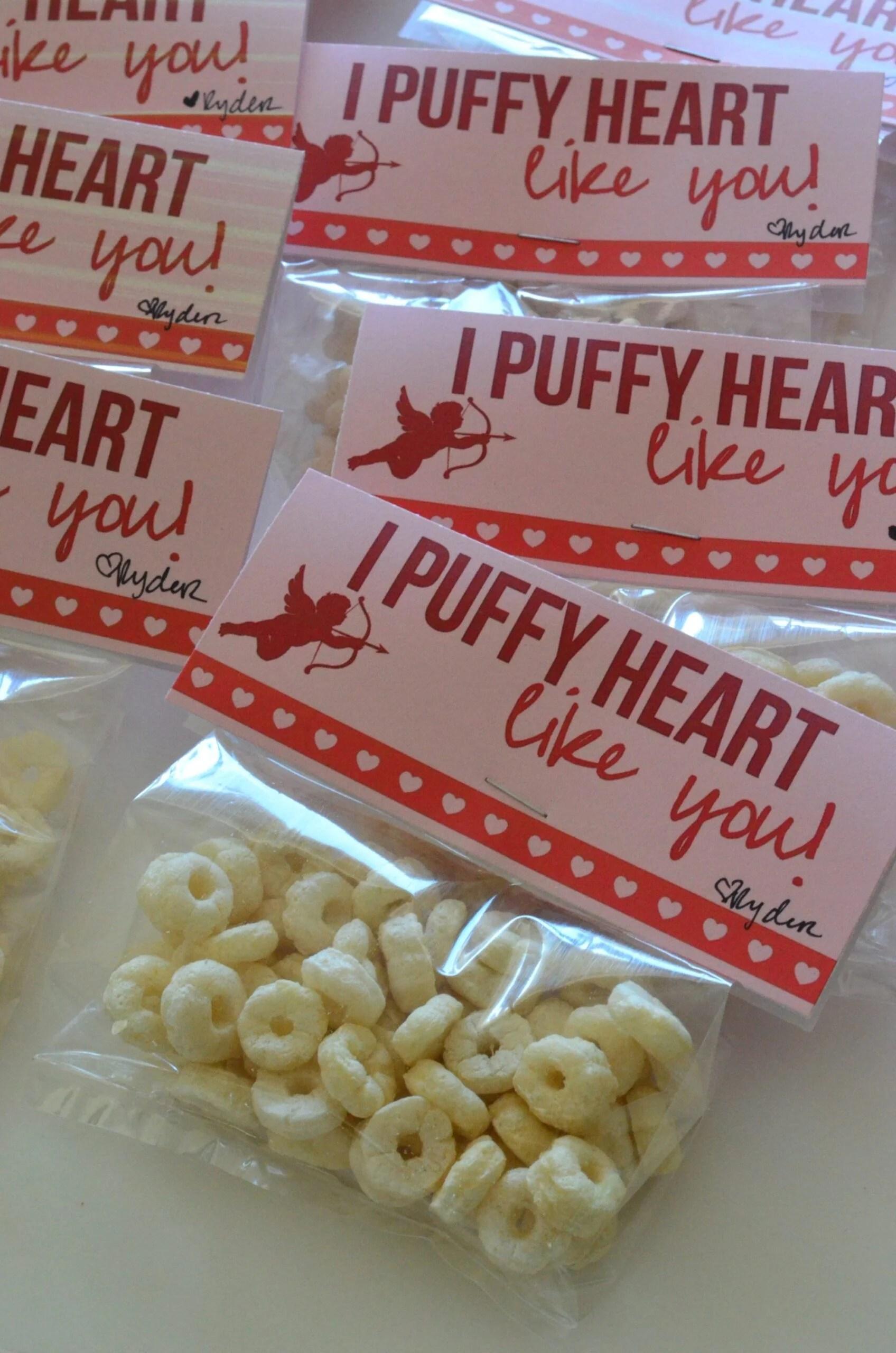 I puffy heart like you - Free Printable Baby Valentine