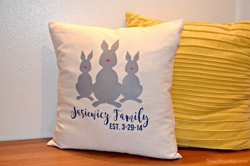 Bunny Family Pillow