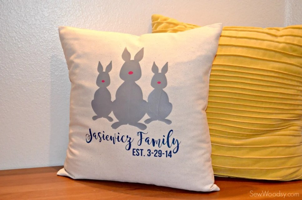 Bunny Family Pillow