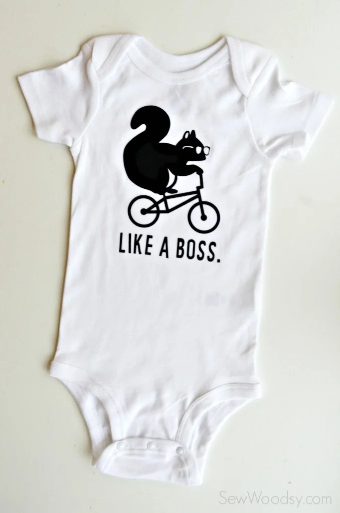 DIY Like A Boss Trendy Baby Flocked Onesie