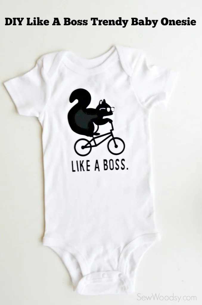 DIY Like A Boss Trendy Baby Onesie