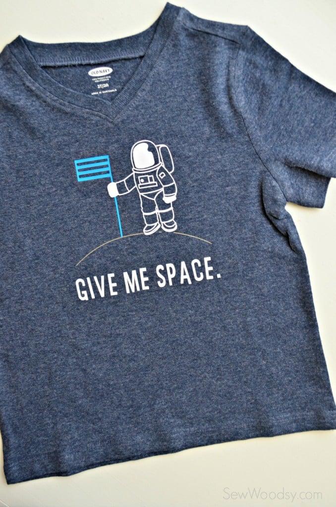 DIY Trendy T-Shirt - Give Me Space Shirt