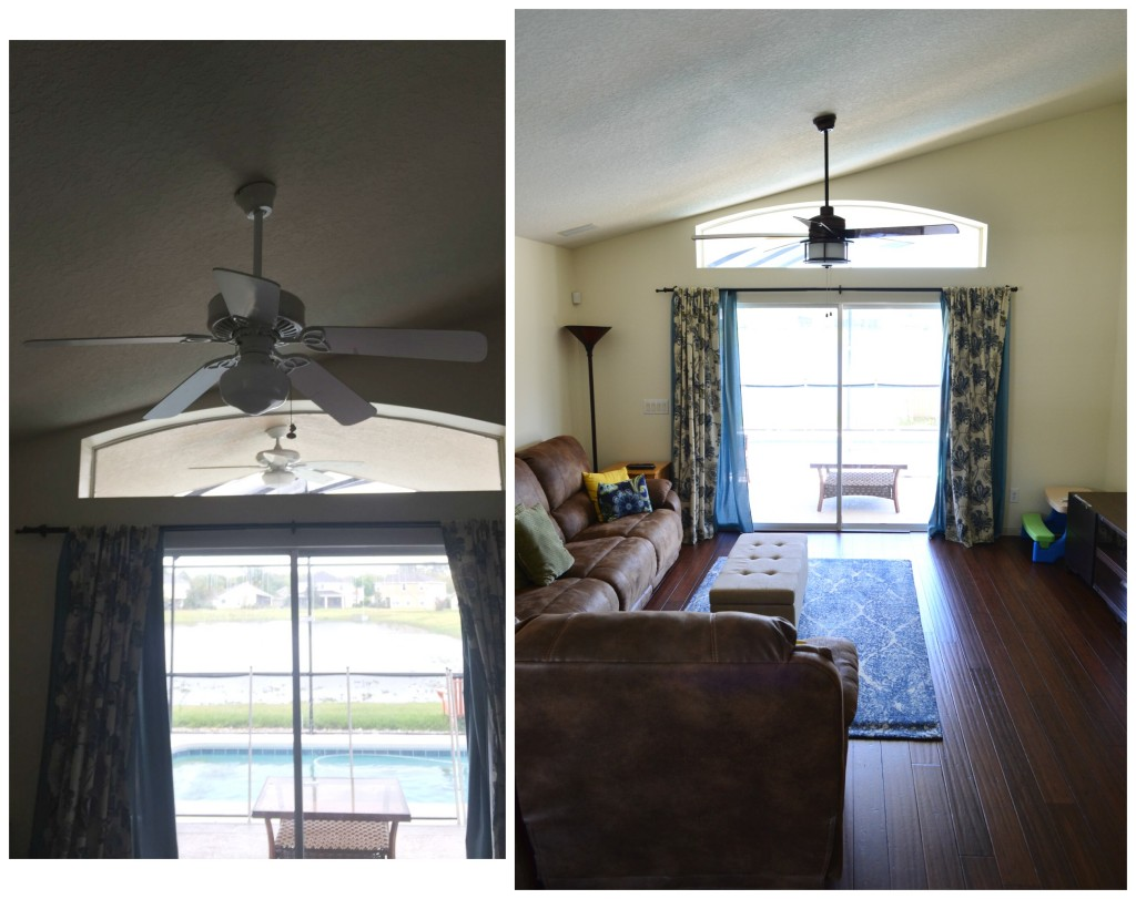 Before and After new fan