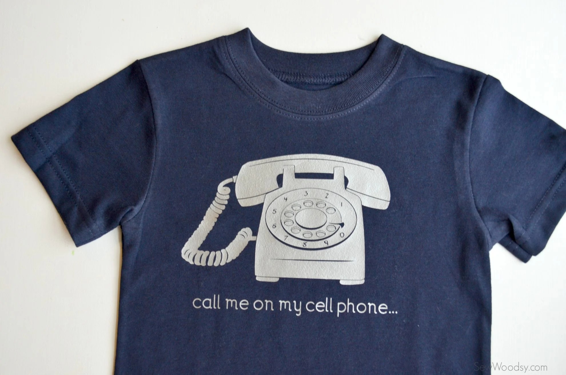 DIY Trendy T-Shirt Call Me On My Cell Phone