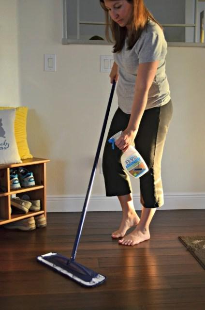 Hardwood Floor Cleaning with Bona® PowerPlus #PowerPair #ad