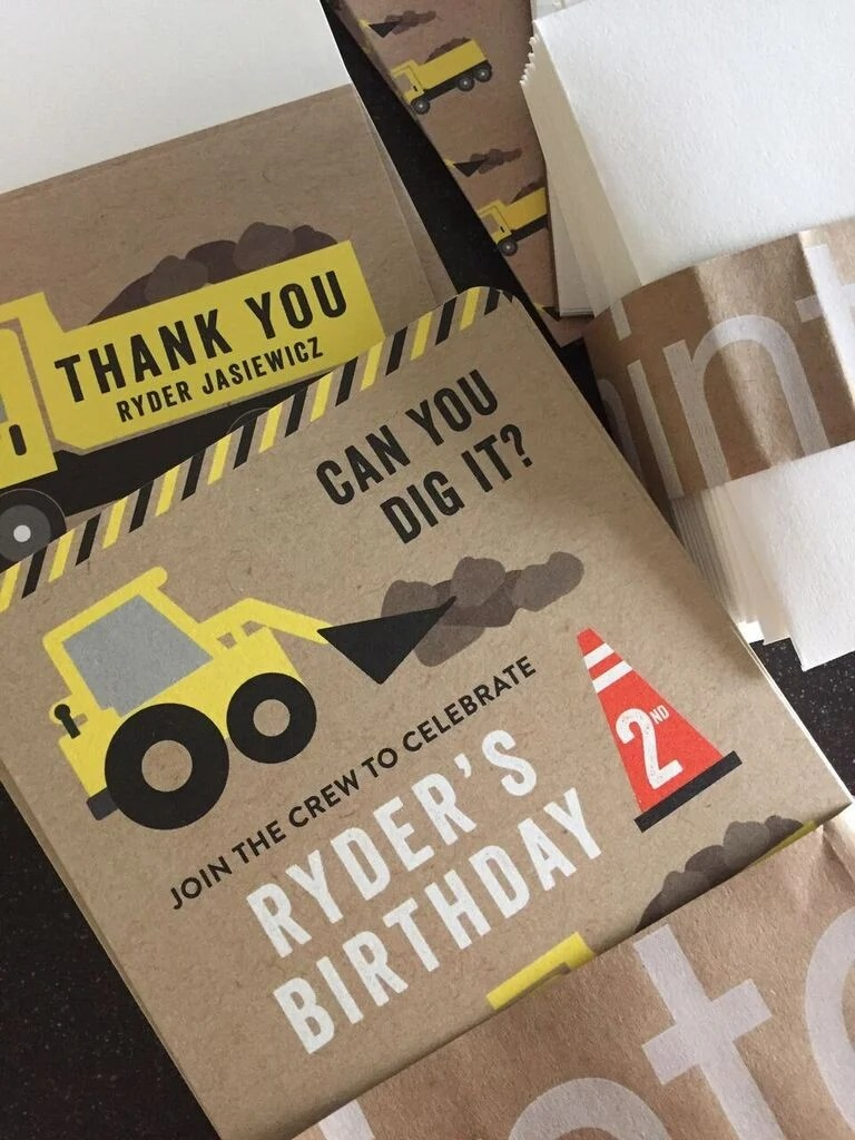 Party Zone Construction Invitations from @minted