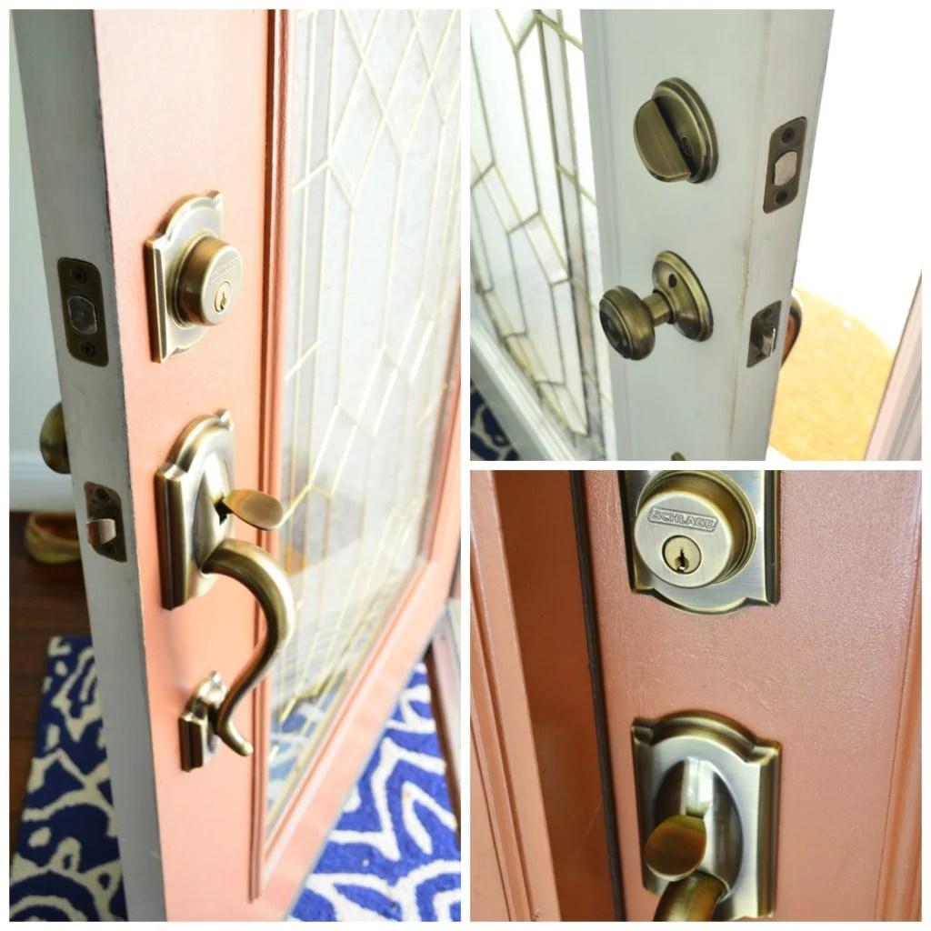 Old Schlage Front Door Lock in Brass
