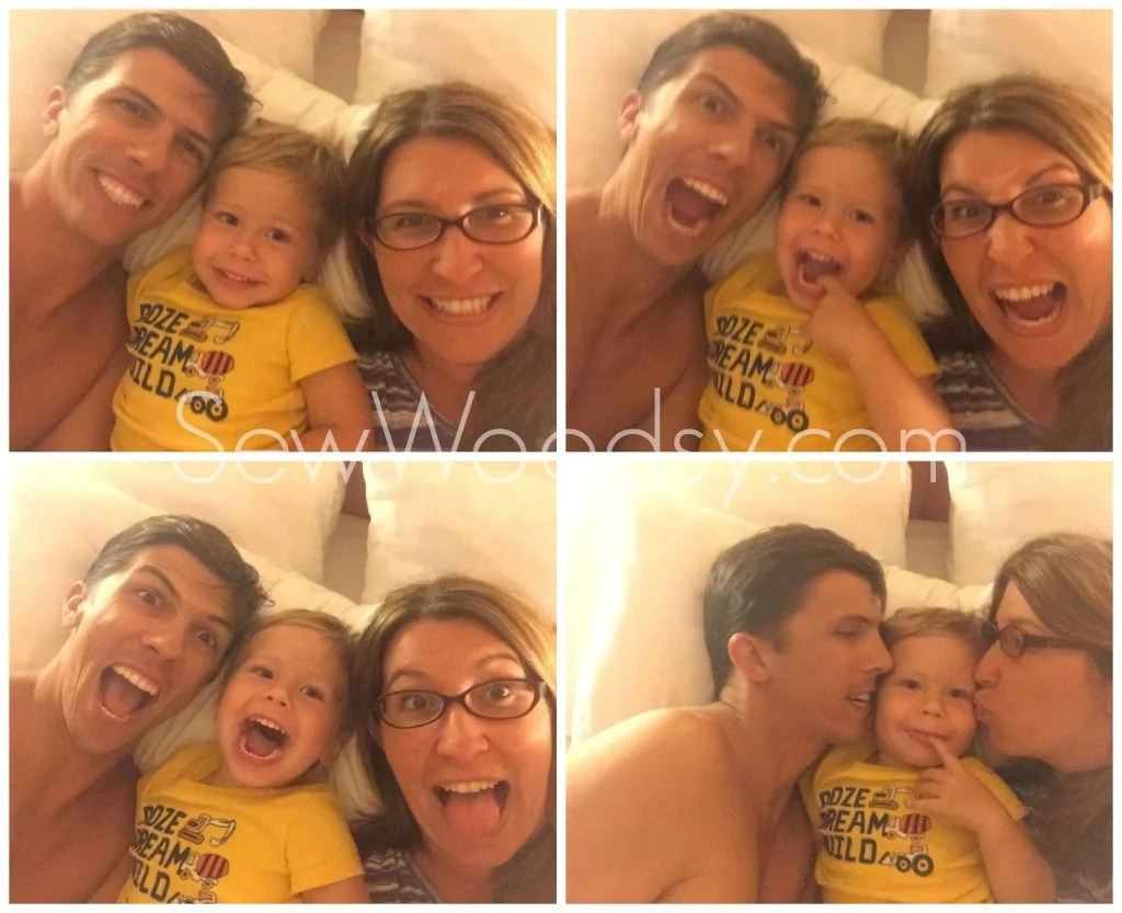 Silly Family Selfie Faces