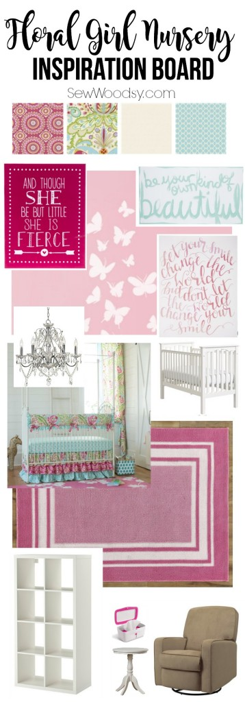 Floral Girl Nursery Inspiration Board