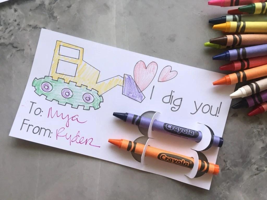 """""""I Dig You!"""" Coloring Valentine"""