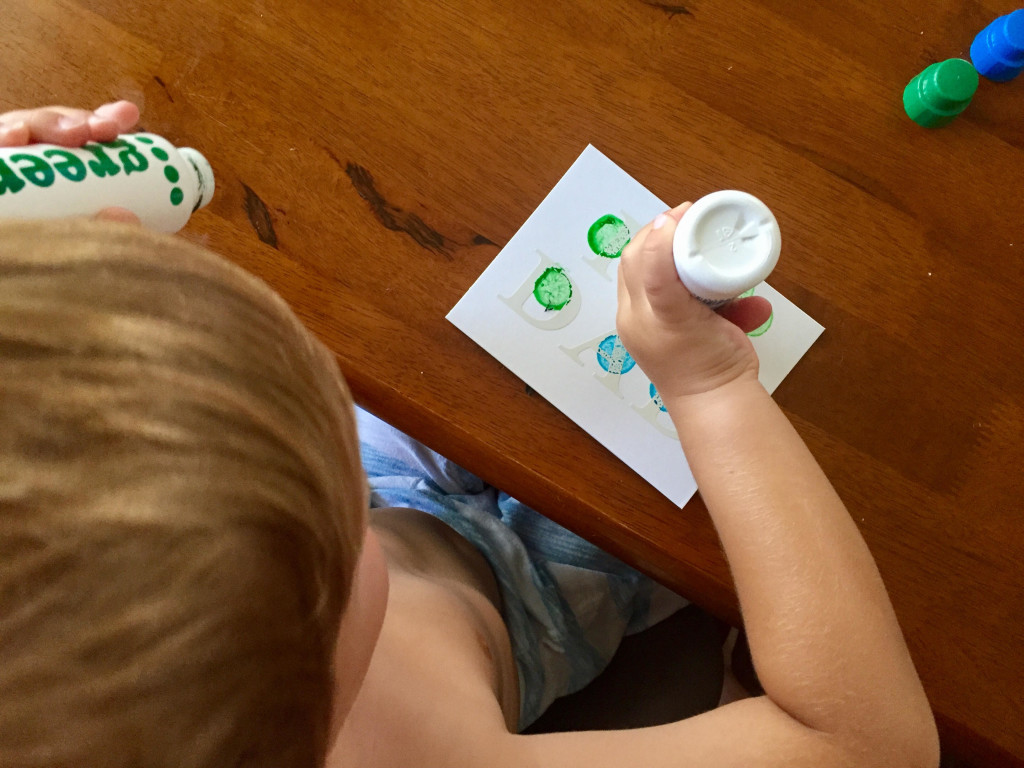 DIY Toddler Painted Father's Day Card
