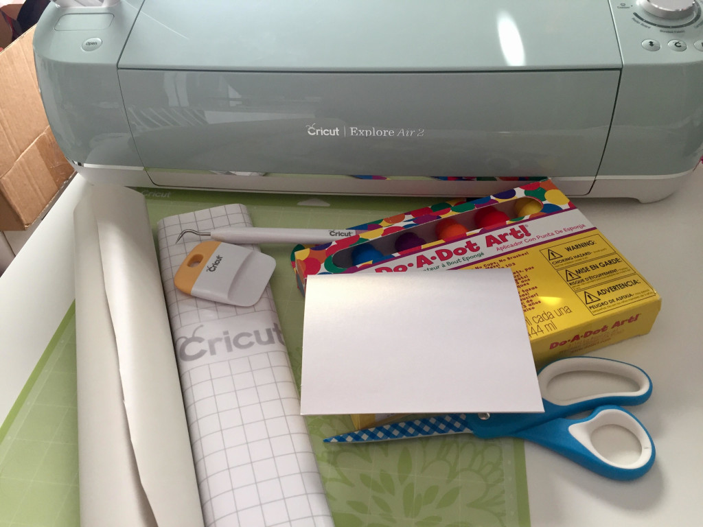 DIY Toddler Painted Father's Day Card Supplies