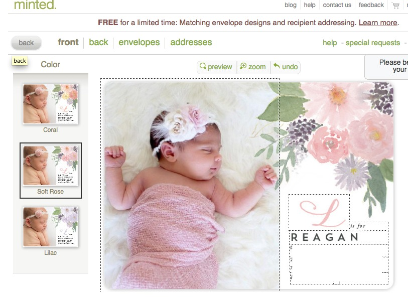 Baby Announcements from Minted