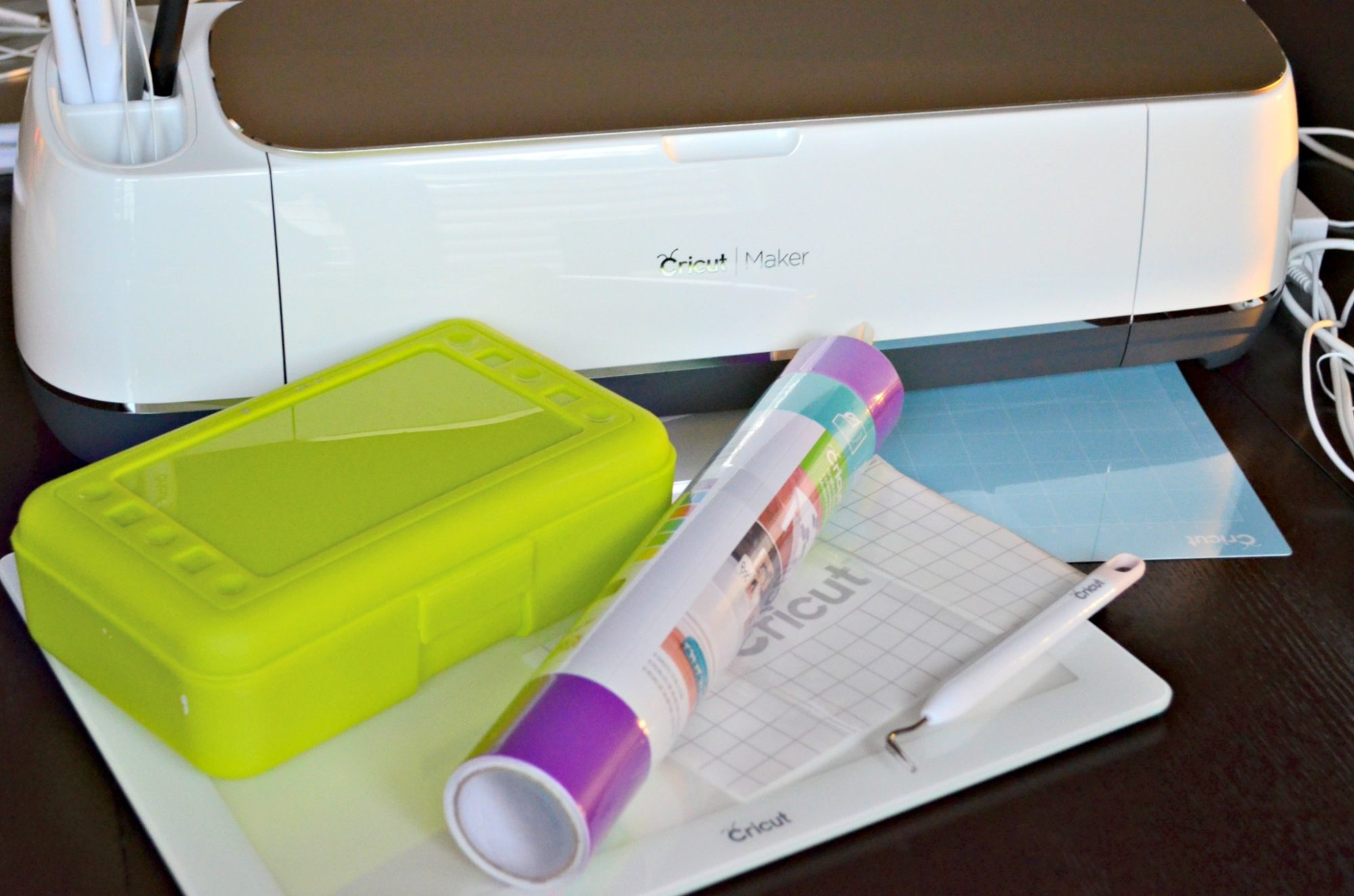 Cricut Maker Vinyl Supplies with pencil Box