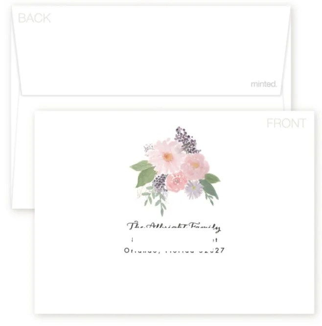 Minted Birth Announcement Envelope