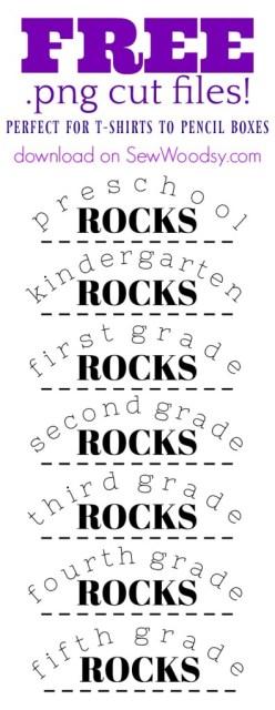 Elementary School Rocks FREE PNG Cut Files