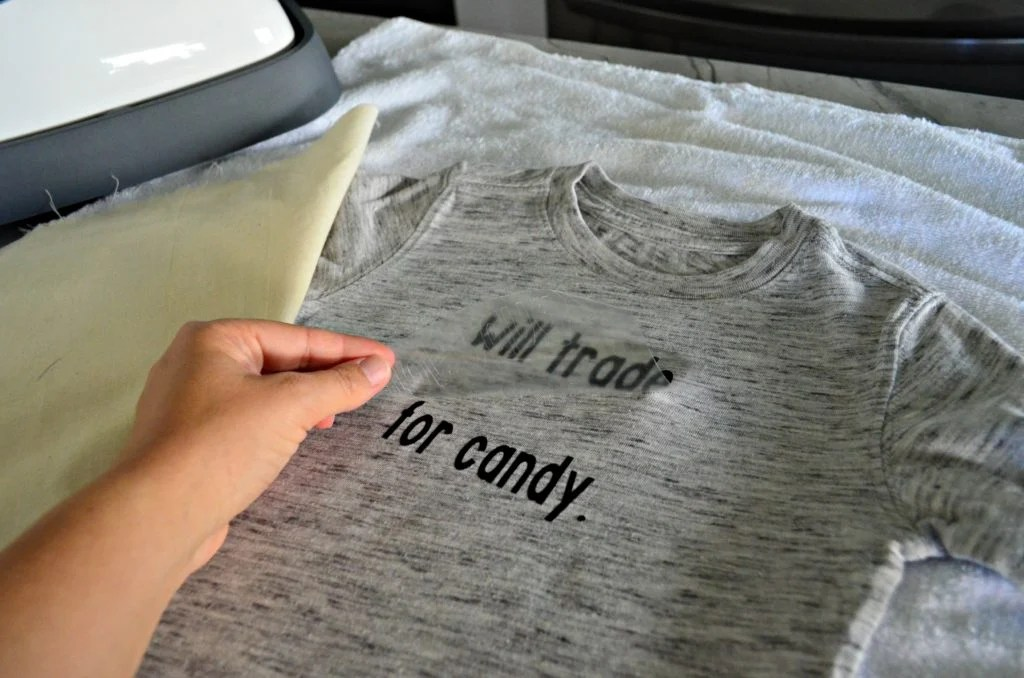 DIY Will Trade Sibling for Candy T-Shirt first layer