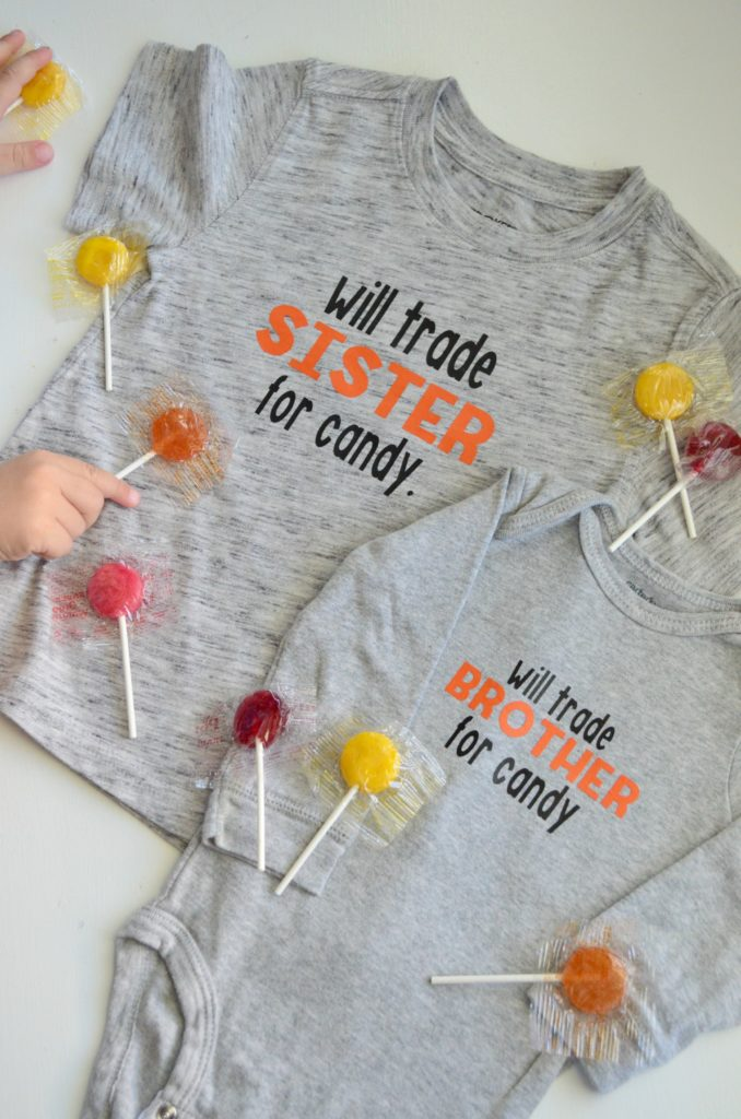 DIY Will Trade Sibling for Candy T-Shirt - using the Cricut
