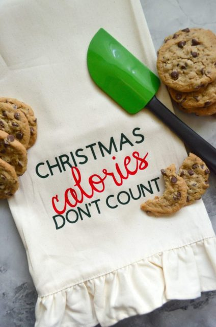 't Count Dish Towel - easy holiday gift