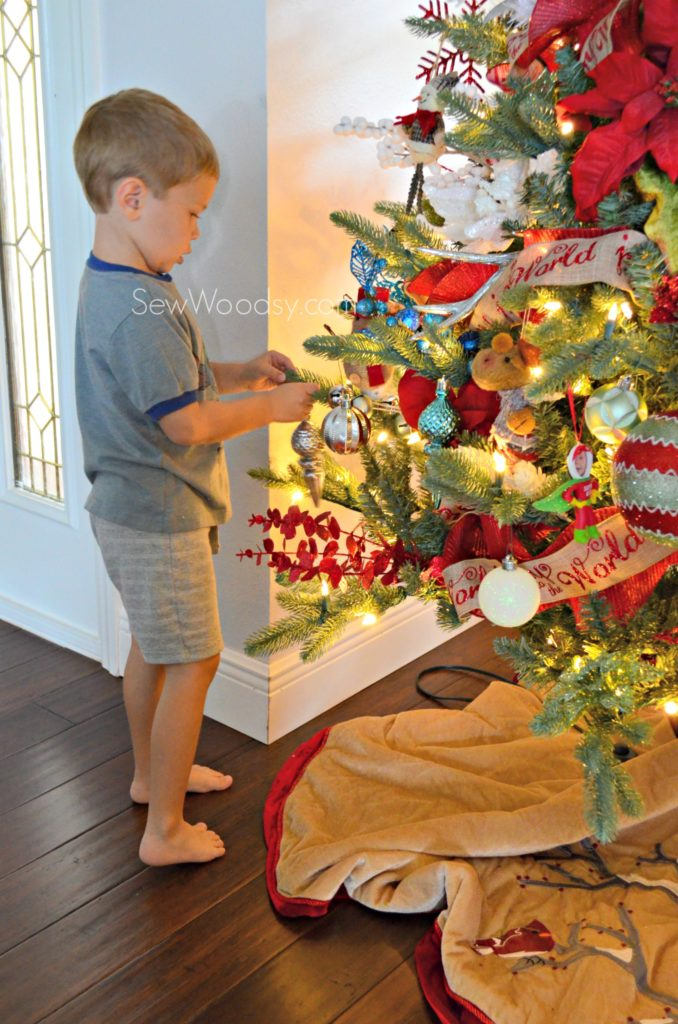 Whimsical Christmas Tree with Toddler Decorating