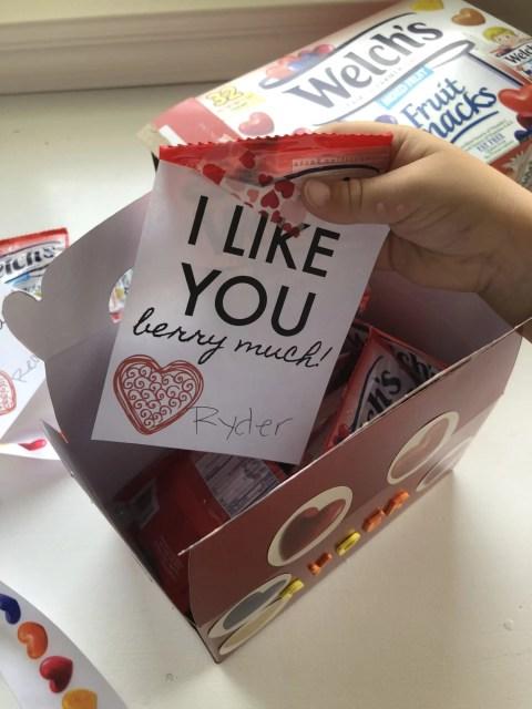 Welch's® Fruit Snacks Printable Valentine