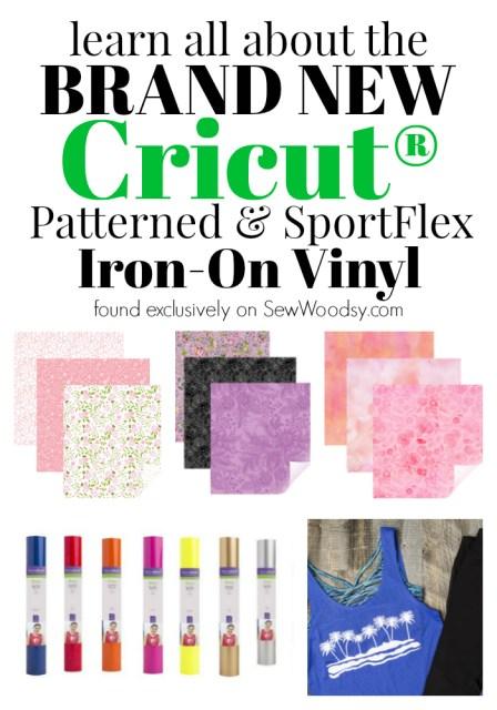 Brand NEW Cricut Patterned & SportFlex Iron-On Vinyl