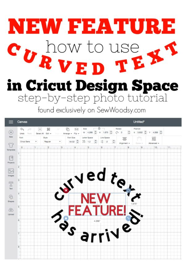 How To Use Curved Text in Cricut Design Space