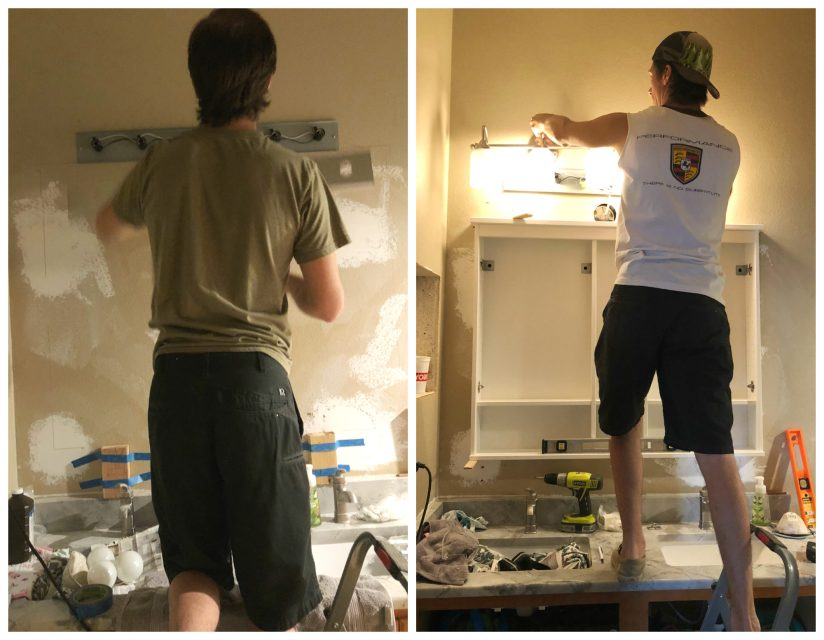 installing new bathroom lighting
