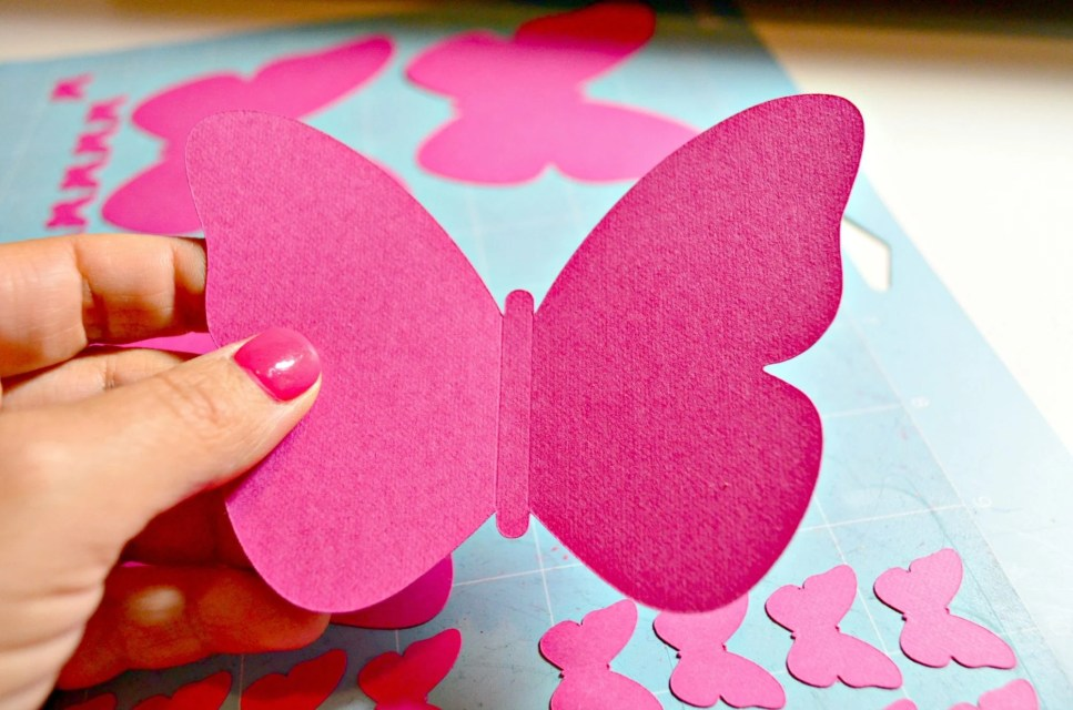Create a Paper Butterfly Wall Cardstock Butterfly