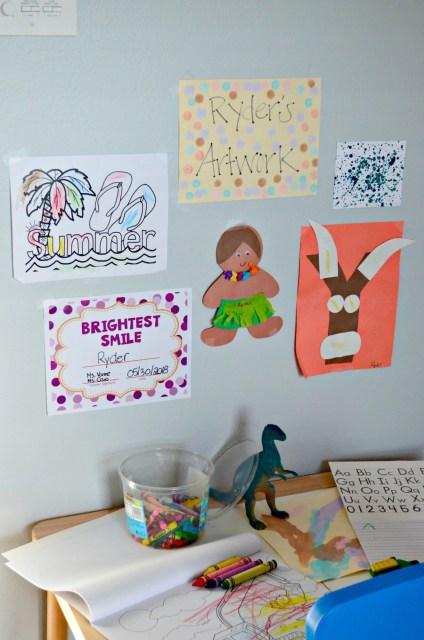 Creative Workspace for Preschool Age Children