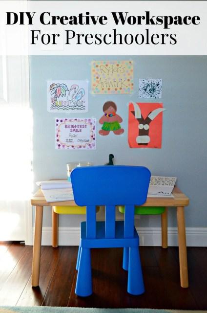 DIY Creative Workspace For Preschoolers