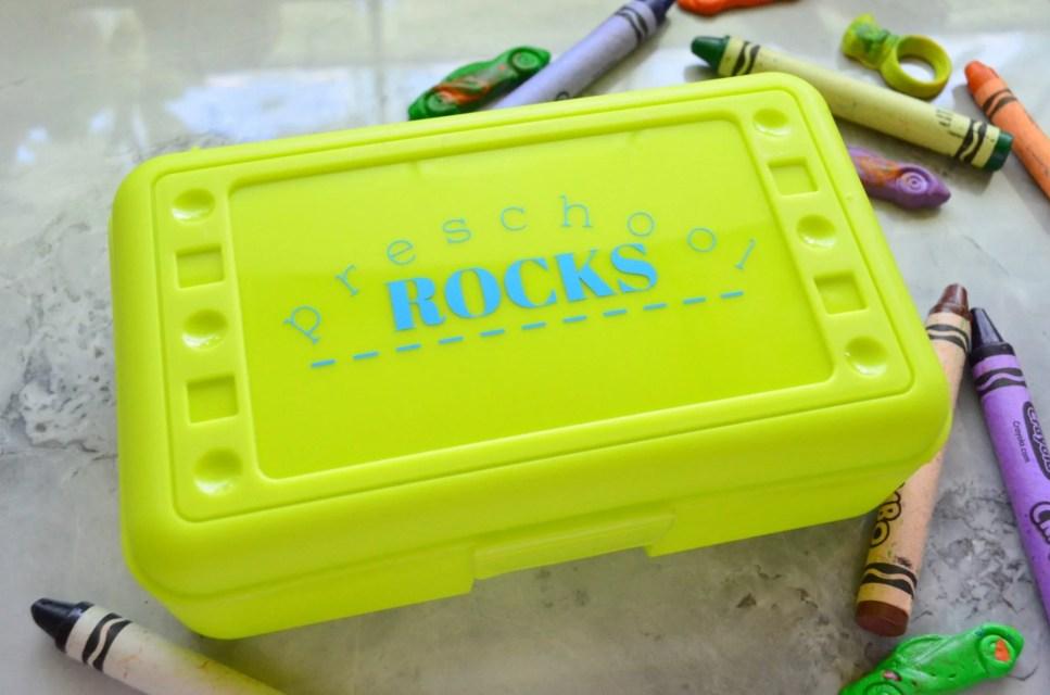 Custom Elementary School Rocks Pencil Box