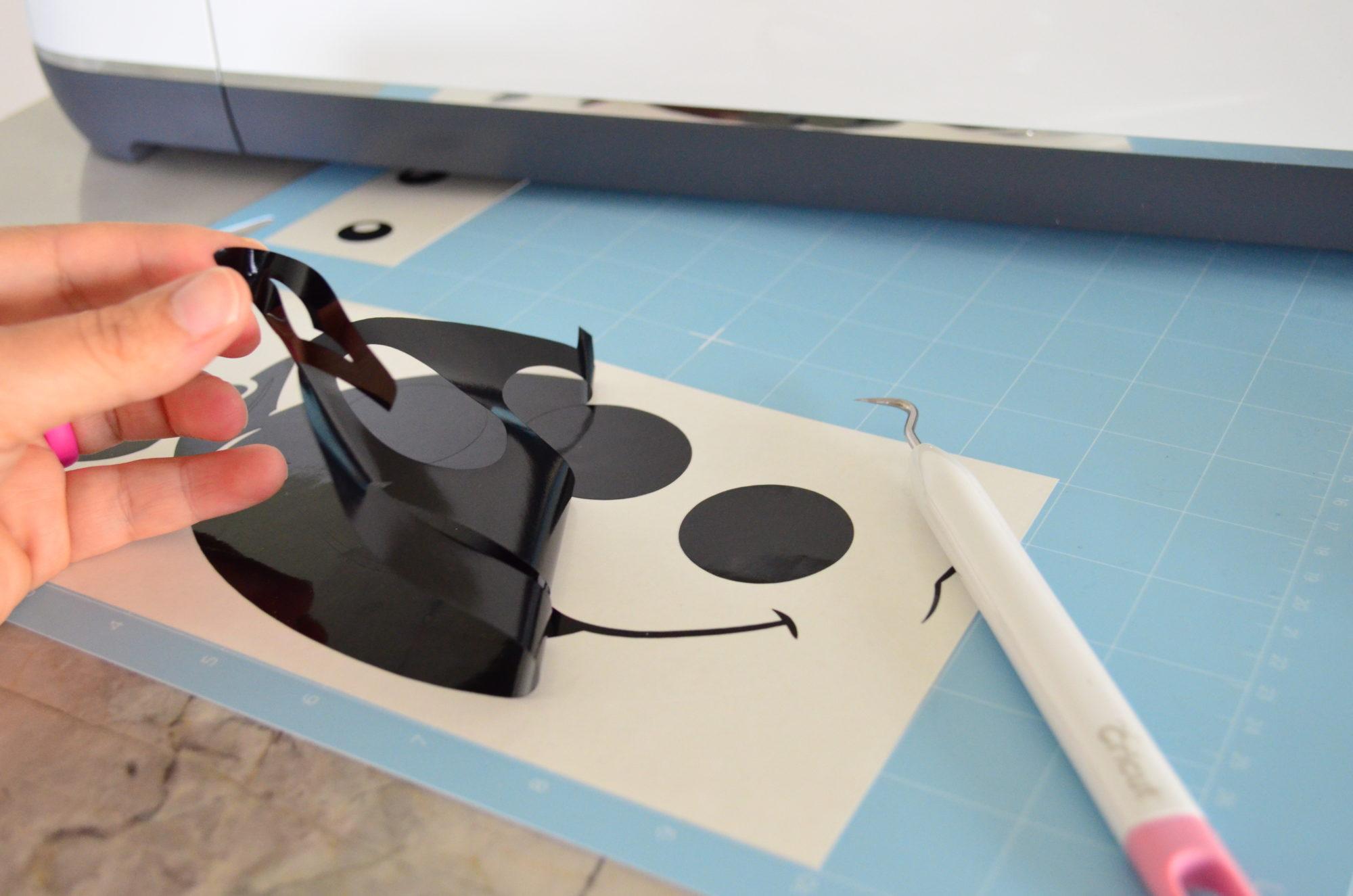 Peeling the negative off vinyl