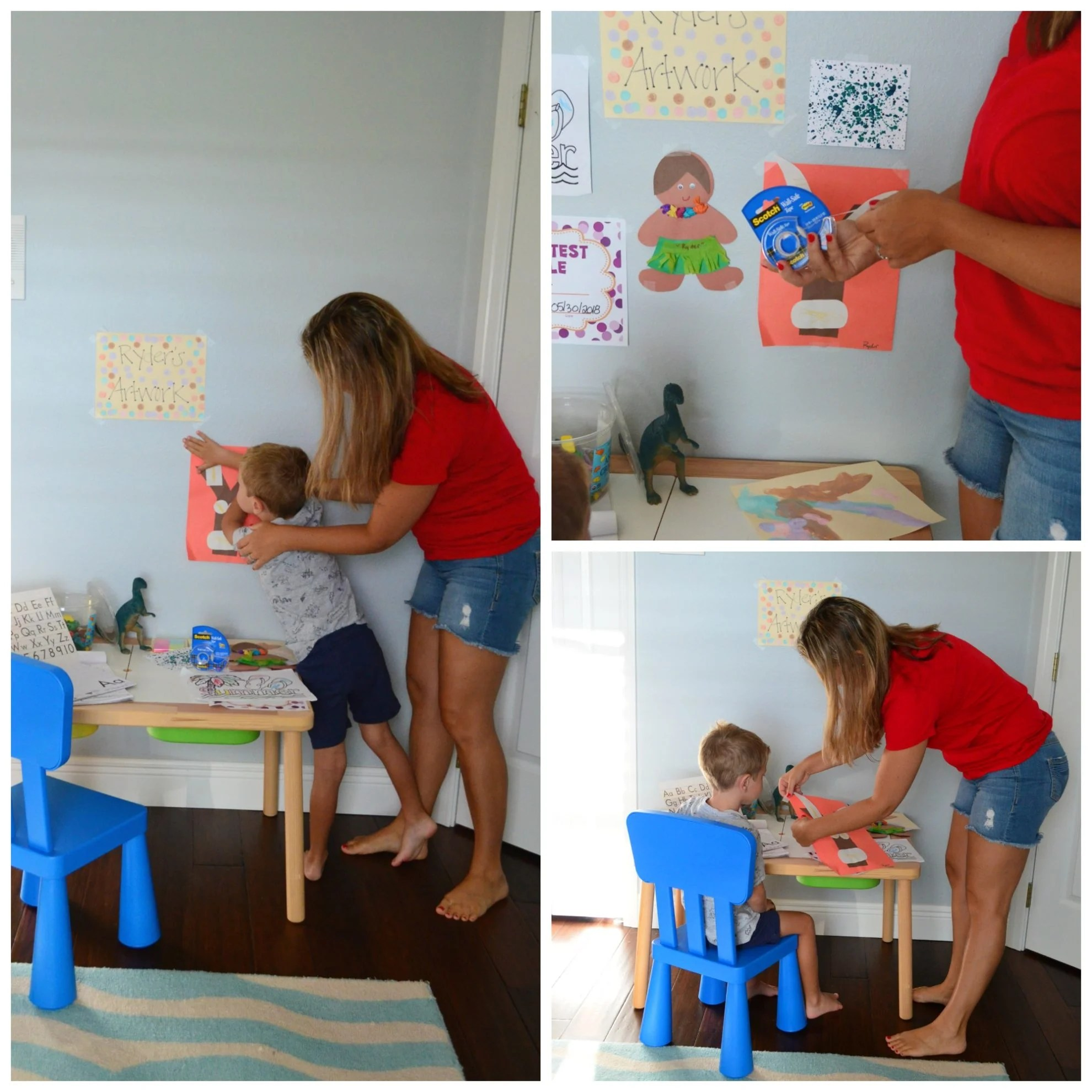 Scotch® Wall-Safe Tape - Preschool Creative Workspace