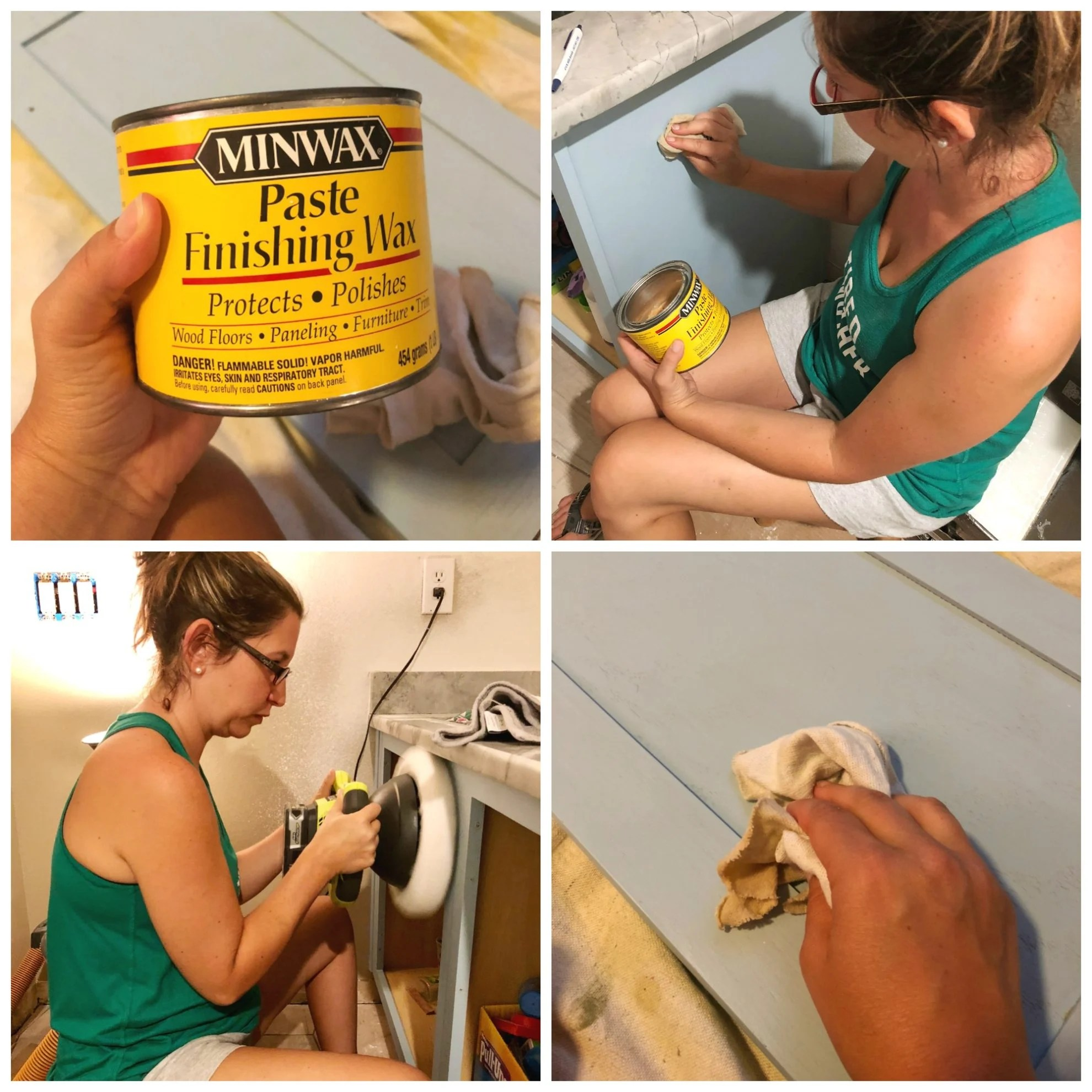 Waxing Cabinets with Paste Finsihing Wax
