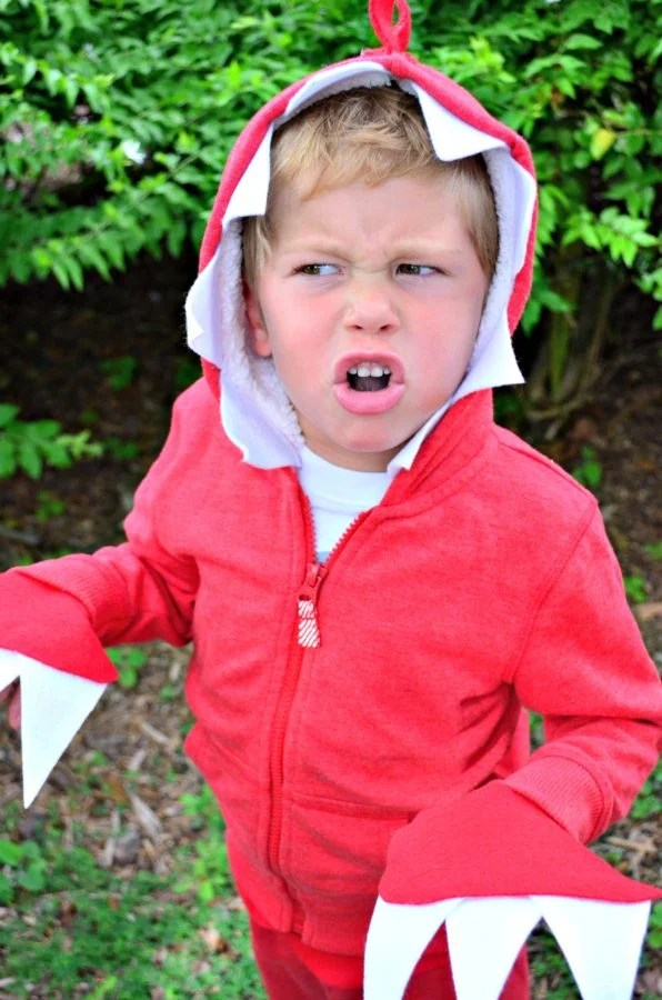 No Sew Dinosaur Child's Costume