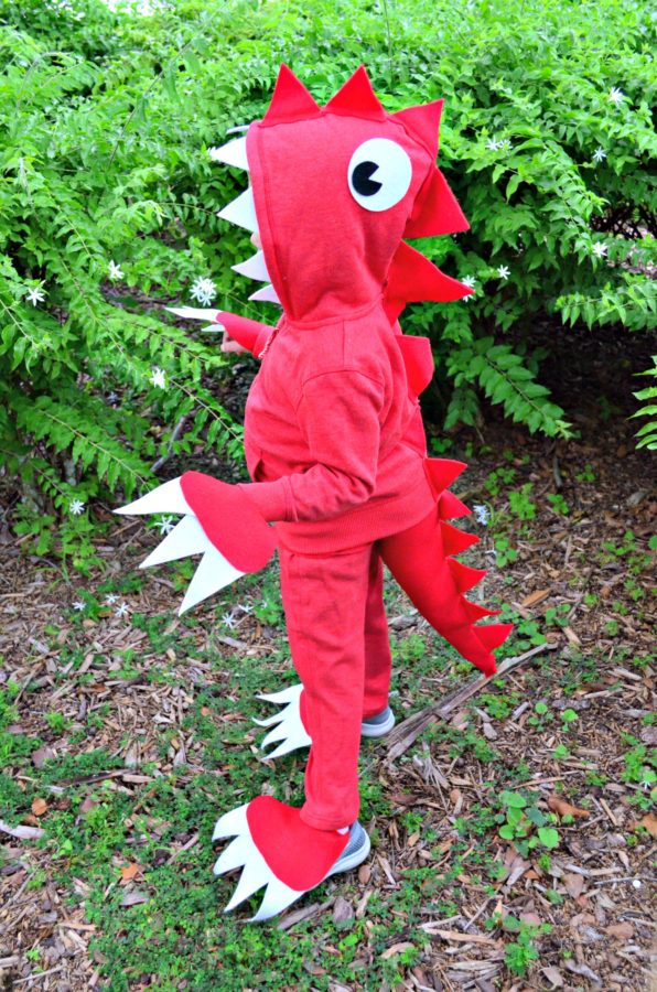 No Sew Dinosaur Costume Instructions