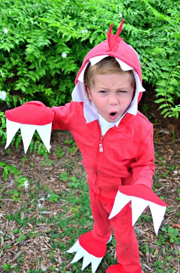 No Sew Dinosaur Costume for Todddlers