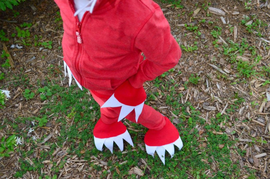 No Sew Dinosaur Costume with dino details