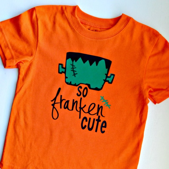 So Franken Cute DIY Halloween Shirt