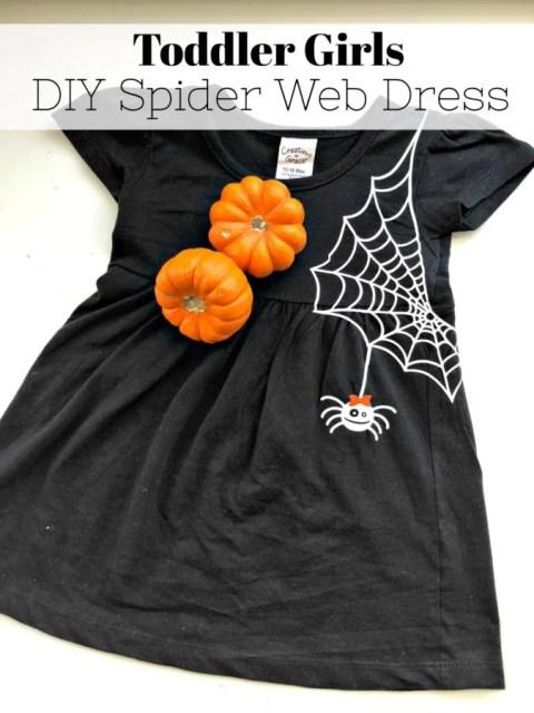 Toddler Girls DIY Spider Web Dress
