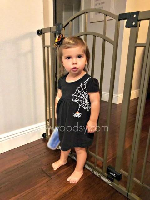 Toddler Girls DIY Spider Web Dress for Halloween