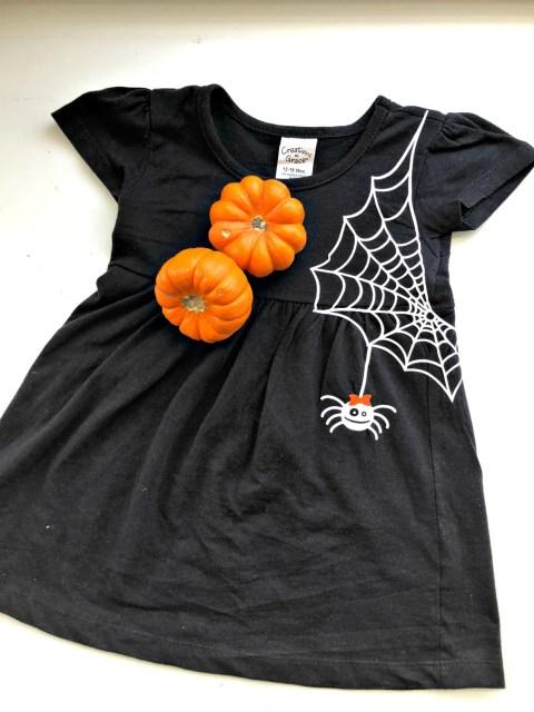 Toddler Girls DIY Spider Web Dress Cricut Design Space Screen Shot