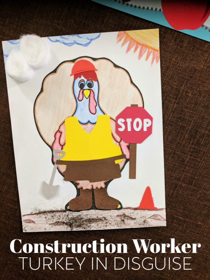 Construction Worker Turkey in Disguise